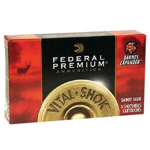 "Federal 12 Gauge Ammunition 5 Rounds 2.75"" 1 oz. Rifled HP Slug"