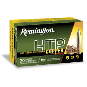 Remington HTP Copper 300 RUM Ammunition 20 Rounds 180 Grain Barnes TSX Boat Tail