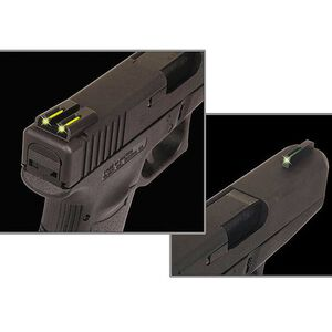 TRUGLO TFO GLOCK 42 Night Sights Low Profile Green Fiber Optic Front Yellow Rear Sight Set TG131GT1B