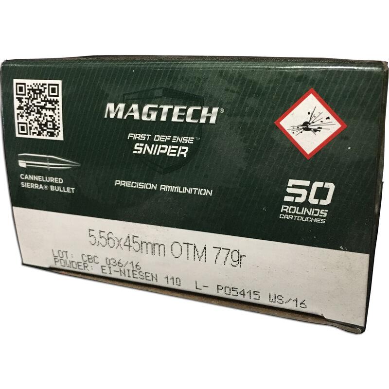 Magtech First Defense Sniper 5.56 NATO Ammunition 1000 Rounds HPBT 77 Grains 556C
