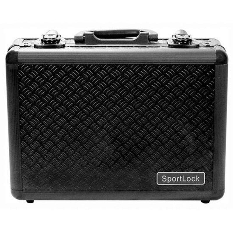 Sportlock Alumalock Double Handgun Case Small Aluminum Interlocking Foam Crate Foam Black 00405