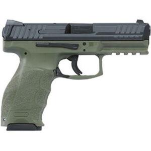 """H&K VP9 Semi Auto Pistol 9mm Luger 4.09"""" Barrel 15 Rounds Striker Fired 3-Dot Sights OD Green Polymer Frame Black Slide Finish"""