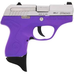 "Beretta Pico .380 ACP Semi Auto Pistol 2.7"" Barrel 6 Rounds XS Front Night Sight Two Tone Lavender Polymer Frame with Inox Slide Finish"