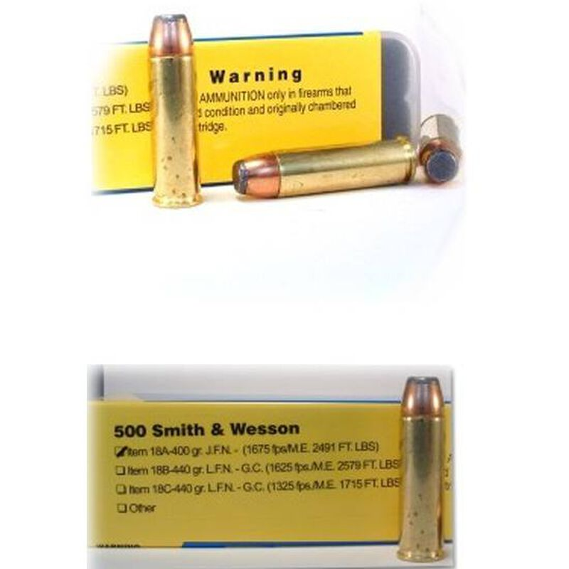 Buffalo Bore .500 S&W Mag 400 Grain JFN 20 Round Box