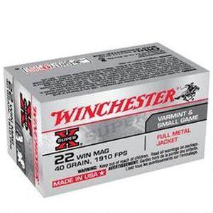 Winchester Super X .22 WMR Ammunition 2000 Rounds, FMJ, 40 Grains