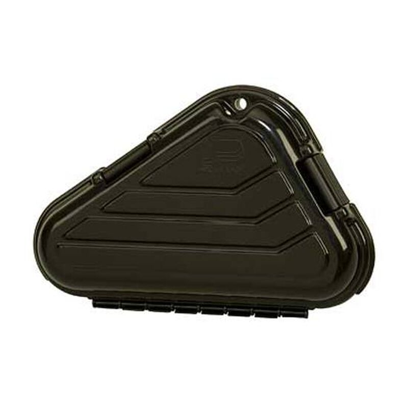 Plano Large Frame Pistol Case Thick Wall Construction Two Layers of High Density Foam Plano Style Hinges Padlock Tab Polymer Matte Black 142300