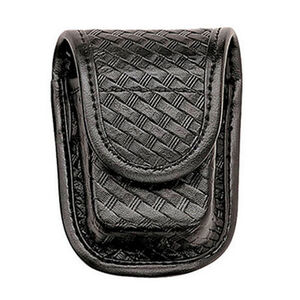 Bianchi Accumold Elite Pager/Glove Pouch Brass Snap Basket Weave Finish Black 22191
