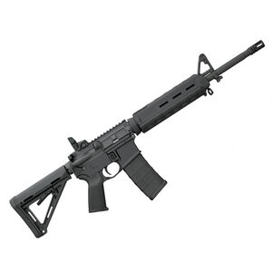 """Bushmaster MOE Mid-Length AR-15 Semi Auto Rifle .223 Rem/5.56 NATO 16"""" Barrel 30 Rounds with Collapsible Stock and Flip Up Rear Sight Black Finish 90827"""