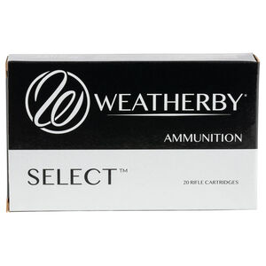 Weatherby Select 7mm Weatherby Magnum Ammunition 154 Grain Hornady Interlock Projectile 3260fps
