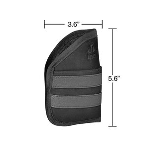 "UTG 3.6"" Ambidextrous Pocket Holster, Black"