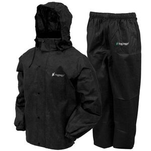 Frogg Toggs All Sports Suit Adult XL Waterproof Breathable Nylon Black AS1310-01XL