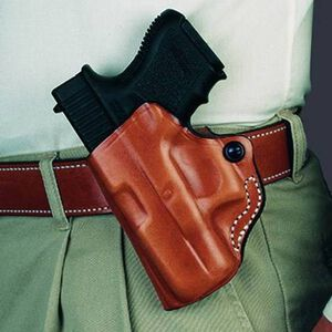 Desantis 019 Mini Scabbard Belt Holster S&W M&P Shield Left Hand Leather Tan 001TBX7Z0