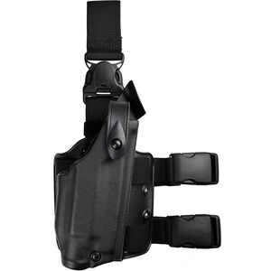 Safariland 6005 SLS Tactical Holster with Quick Release Leg Harness Fits S&W 4906TSW with ITI M5 or Similar Light Right Hand STX Tactical Finish Black