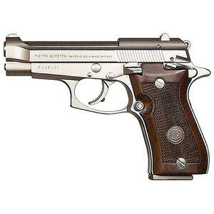 "Beretta Model 85FS Cheetah Semi Auto Handgun .380 ACP 3.8"" Barrel 8 Rounds Frame Mounted Safety External Hammer Walnut Grip Nickel Finish J85F212"