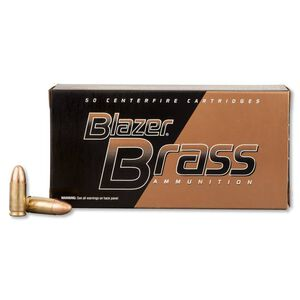 CCI Blazer Brass 9mm Luger Ammunition FMJ 115 Grains