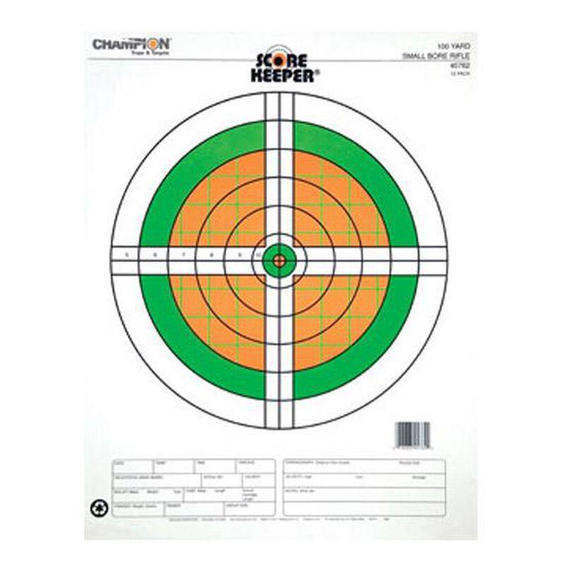 Champion Scorekeeper 100 Yard Small Bore RiflePaper Target Orange/Green 12 Pack 45762