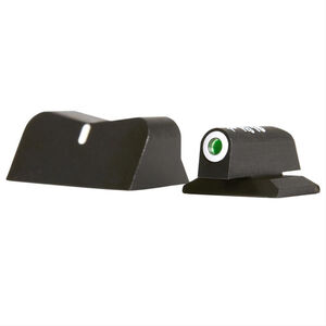 XS Sight Systems DXW Standard Dot Night Sights S&W Bodyguard 380 Green Tritium Front/Solid White Rear Matte Black