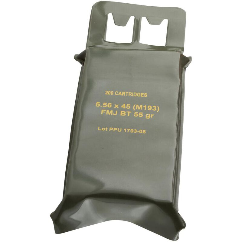 Prvi Partizan 5.56 NATO Ammunition 200 Round Battlepack of Mil-Spec M193 FMJBT 55 Grains
