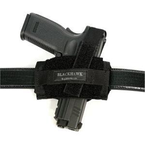 BLACKHAWK! Universal Flat Belt Holster Ambidextrous Nylon Black 40FB02BK