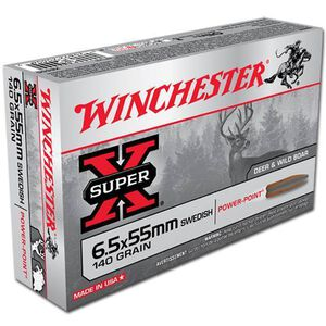 Winchester Super-X 6.5x55 Swedish 140 Grain SP 20 Rnd Box