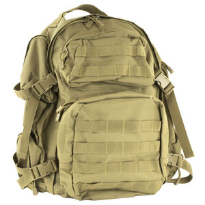 NcSTAR Tactical Backpack Nylon Hydration Compartment MOLLE Compatible Tan