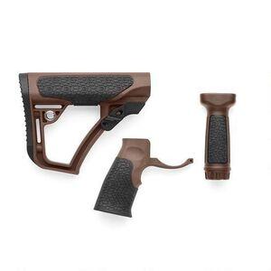 Daniel Defense Collapsible Buttstock/Pistol Grip/Vertical Foregrip Combo Kit AR-15 Mil-Spec Diameter Mil-Spec+ Brown 28-102-06145-011