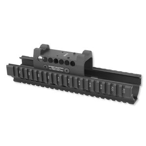 Midwest Industries Universal AK-47/AK-74 Extended Hand Guard Burris FastFire II Top Cover 6061 Aluminum Matte Black
