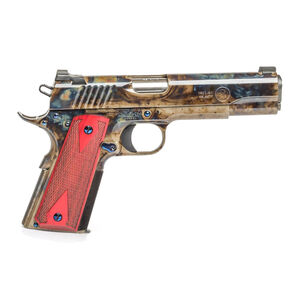 "Standard Manufacturing 1911 .45 ACP Semi Auto Pistol 5"" Stainless Steel Match Barrel Tactical Sights Rosewood Double Diamond Grips High Polish Case Colored Finish"