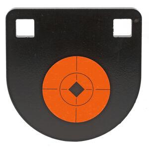 "Birchwood Casey World of Targets AR 500 4"" Two Hole Steel Gong 0.375"" Matte Black"