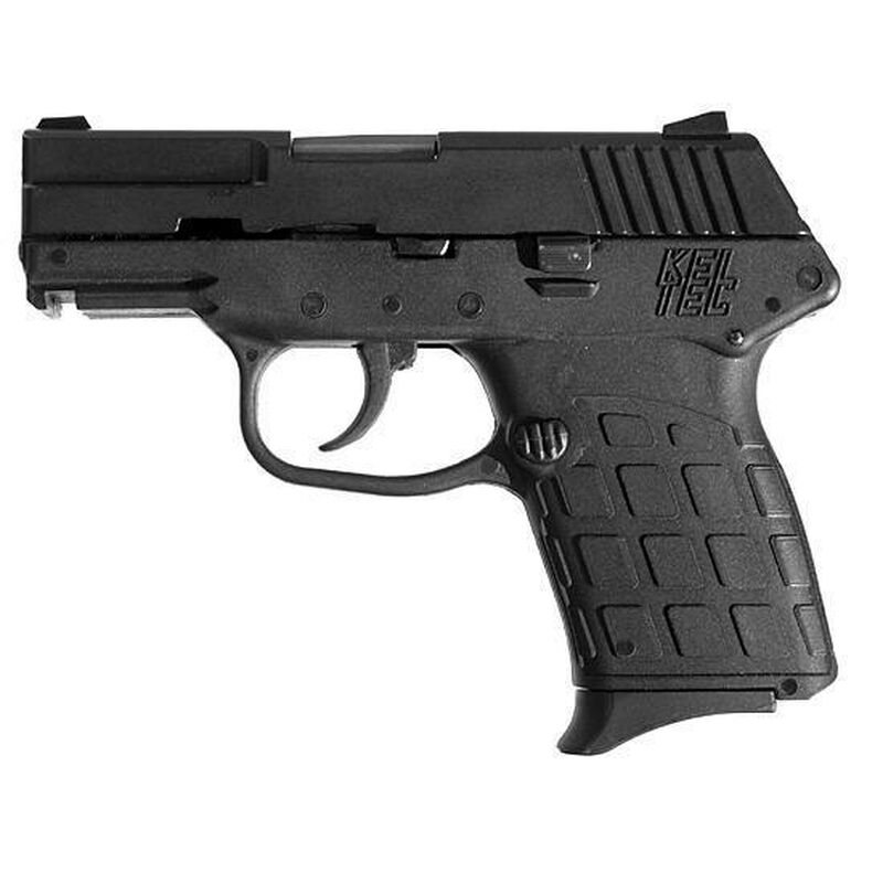 "Kel-Tec PF-9 SemiAuto Handgun 9mm 3.1"" Barrel 7 Rounds Black Polymer Grips Parkerized Slide"