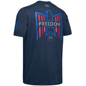 Under Armour Men's Freedom Eagle T-Shirt Small Cotton Blend Academy