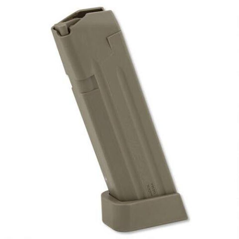 Jagemann Sporting Group GLOCK 17/17L/18/34 Full Size Extended Magazine 9mm Luger 18 Round Capacity Polymer Construction Grey Finish