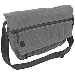 """Grey Ghost Gear Wanderer Messenger Bag 20.5""""x11.5""""x4.5"""" Overall Waxed Canvas Charcoal Grey"""