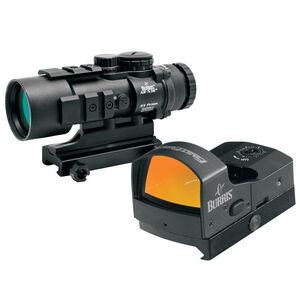 Burris AR-536 5x36mm Prism Sight Ballistic CQ Reticle With FastFire III Reflex Red Dot Sight 3 MOA/Picatinny Rail Mount Matte Black
