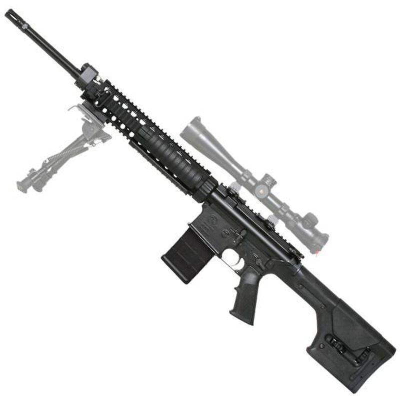 "ArmaLite AR-10 A-Series Super SASS .308 Winchester Semi Auto Rifle 20"" Barrel 20 Round PMAG Free Float Quad Rail Magpul PRS Stock Black"