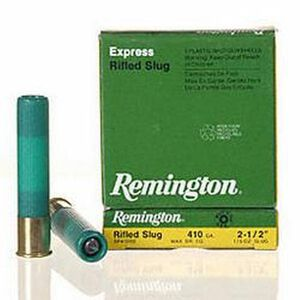 "Ammo .410 Bore Remington Rifled Slug 2-1/2"" 1/5 Ounce 5 Round Box 1830 fps 02120"