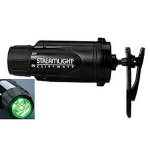 Streamlight ClipMate Flashlight 12 Lumen Green LED Three AAA Batteries Black Thermoplastic