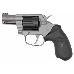 "Colt Cobra Exclusive .38 Special +P Double Action Revolver 2"" Barrel 6 Rounds FO Front Sight Matte Stainless Steel Frame/Black DLC Cylinder Custom Colt G10 Grip"
