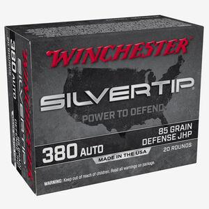 Winchester Silvertip .380 Auto Ammunition 20 Rounds JHP 85 Grains W380ST