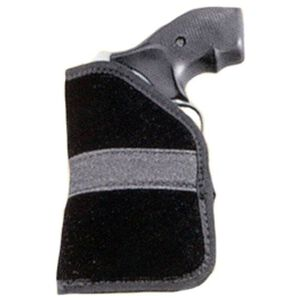 Uncle Mike's Pocket Holster Size 3 5-Shot Revolvers/Sigma .380 Ambidextrous Polymer Suede Black 87443