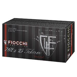 FIOCCHI Classic 7.62x25mm Tokarev Ammunition 50 Rounds FMJ 85 Grains 762TOK