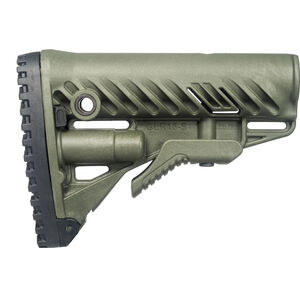 FAB Defense AR-15 Buttstock with Storage Compartment Mil-Spec and Commercial Tubes Polymer OD Green