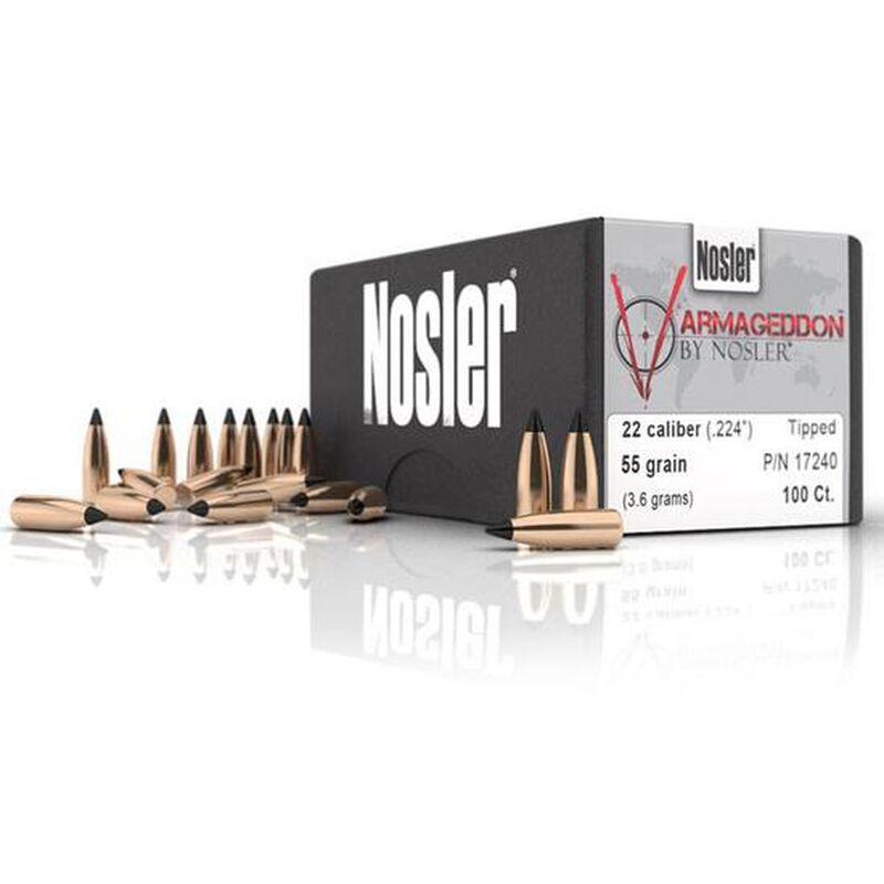 """Nosler Varmageddon Bullets .22 Caliber .224"""" Diameter 55 Grain Polymer Tip 500 Pack 17291"""