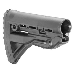 FAB Defense AR-15 Shock Absorbing Buttstock Mil-Spec and Commercial Tubes Polymer Black