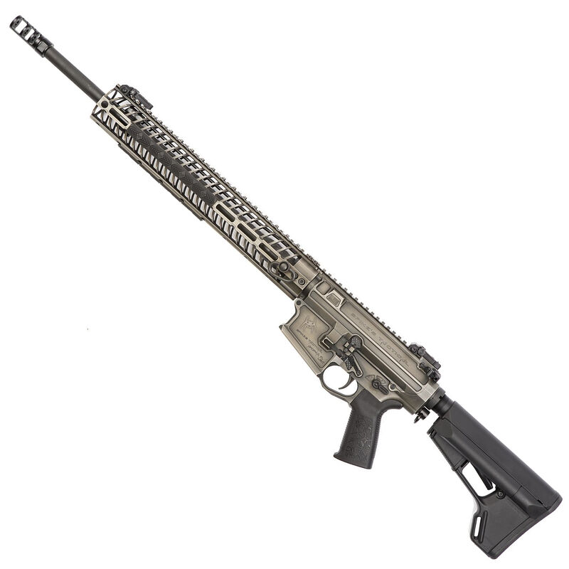 """Spikes Tactical .308 Roadhouse AR308 Style Semi Auto Rifle .308 Winchester NATO 20"""" Barrel 15"""" M-LOK Compatible Aluminum Free Float Hand Guard R2 Muzzle Device Collapsible Stock Battleworn Finish"""