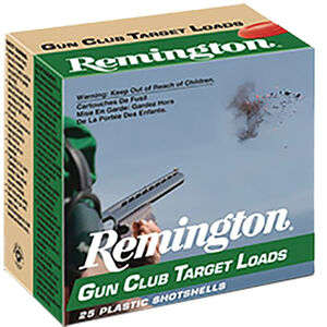 "Remington Gun Club 12 Gauge Ammunition 2-3/4"" #8 Lead 1 Ounce 1185 fps"