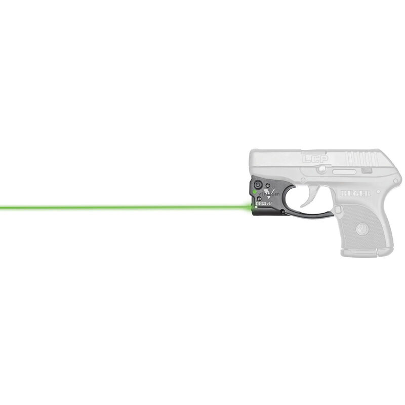 Viridian Reactor 5 Gen 2 Green Laser Sight with ECR Ruger LCP with  Ambidextrous IWB Instant-On Holster Polymer Housing Matte Black Finish