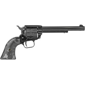 """Heritage Rough Rider .22 LR Single Action Rimfire Revolver 6.5"""" Barrel 9 Rounds Black Pearl Synthetic Grips Blued"""