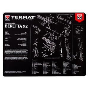 """TekMat Gun Accessories Beretta 92 Schematic 20""""x15"""" Gun Cleaning Mat Black"""