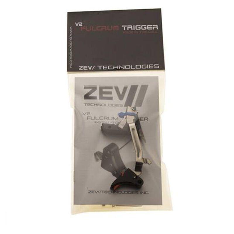 GlockWorx For GLOCK Gen 1-3 .45 ACP Fulcrum Trigger Drop In Kit Billet Aluminum Black ZT-FUL-DRP-45-BB